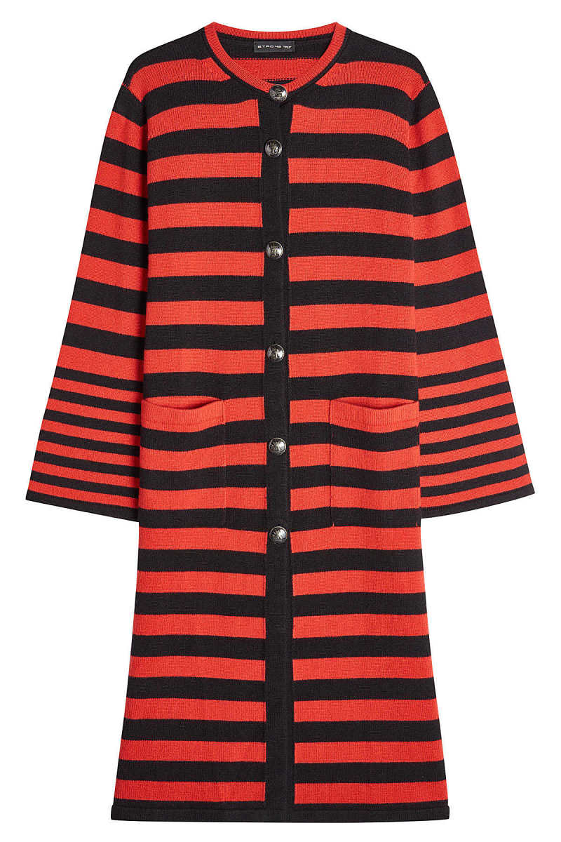 Etro Striped Cardigan with Wool and Cashmere GOOFASH 270375