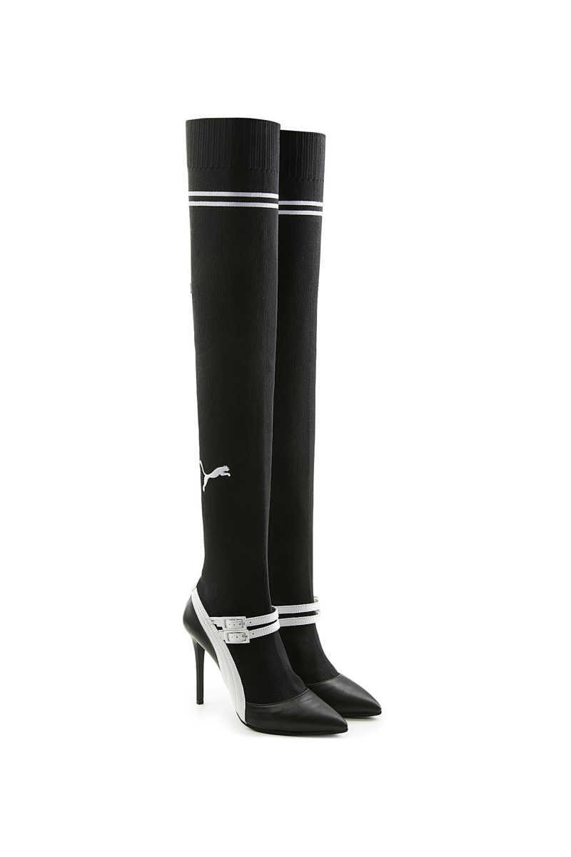 FENTY Puma by Rihanna Over-the-Knee Boots with Leather GOOFASH 279222