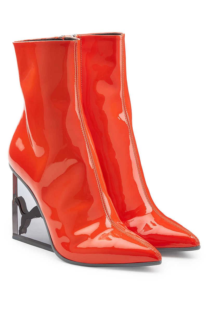 FENTY Puma by Rihanna Patent Leather Ankle Boots GOOFASH 279223