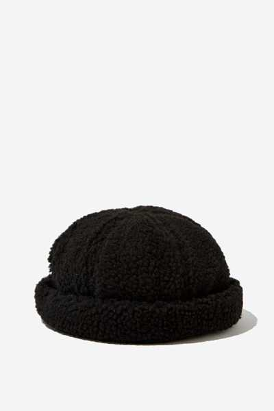 Factorie - Sherpa Docker - Black sherpa - Cotton On - GOOFASH
