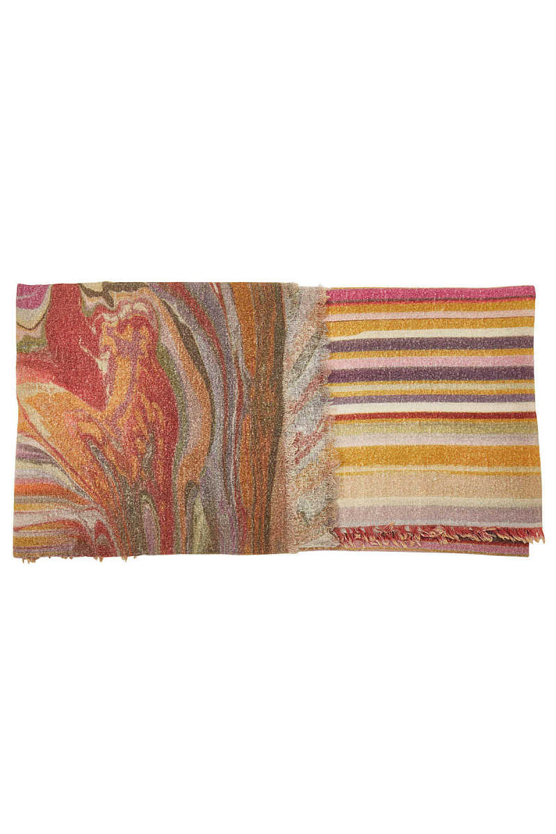 Faliero Sarti Circus Printed Scarf with Virgin Wool