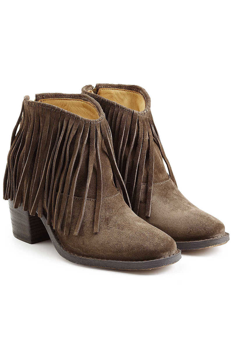Fiorentini + Baker Ramones Fringed Suede Ankle Boots GOOFASH 247173