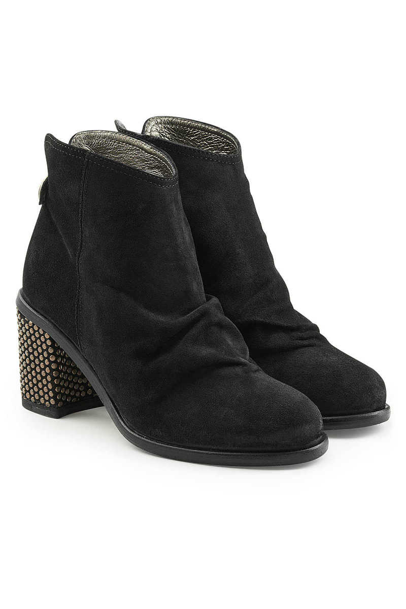 Fiorentini + Baker Robin Suede Ankle Boots with Embellished Heel GOOFASH 277444