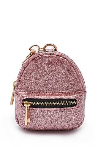 Forever 21 Faux Patent Leather Glitter Coin Purse  Pink GOOFASH 1000319800041