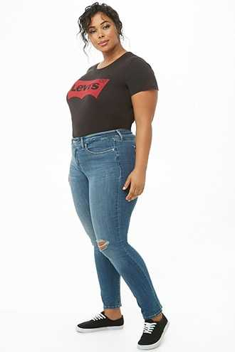 Forever 21 Plus Size Levis 311 Shaping Skinny Jeans Dark Blue GOOFASH 2000306972017
