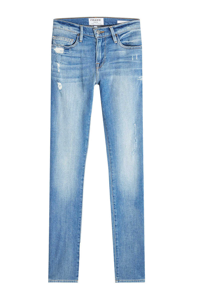 Frame Denim Slim Straight Leg Jeans with Distressed Detail GOOFASH 265982
