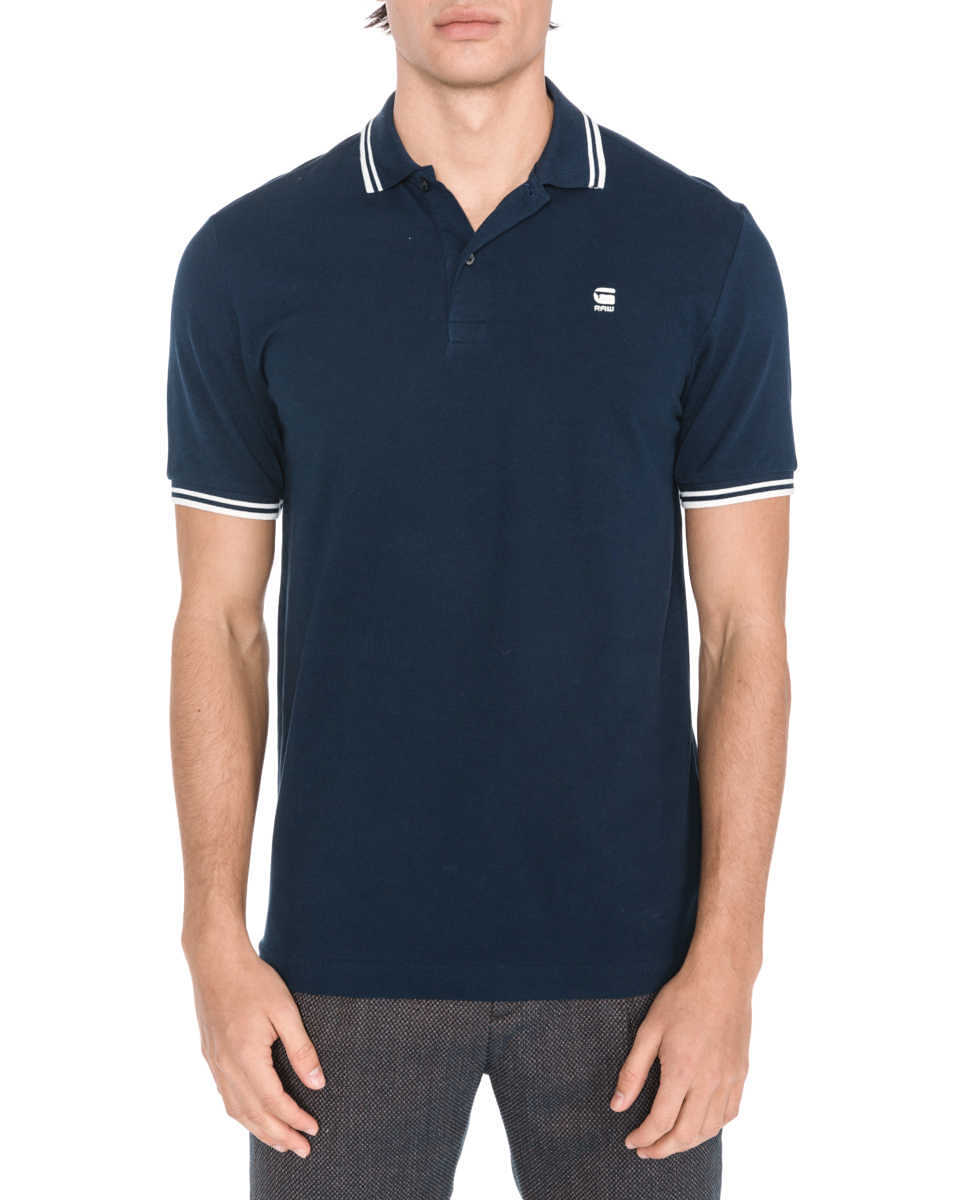 G-Star RAW Dunda Polo Shirt Blue GOOFASH 309238