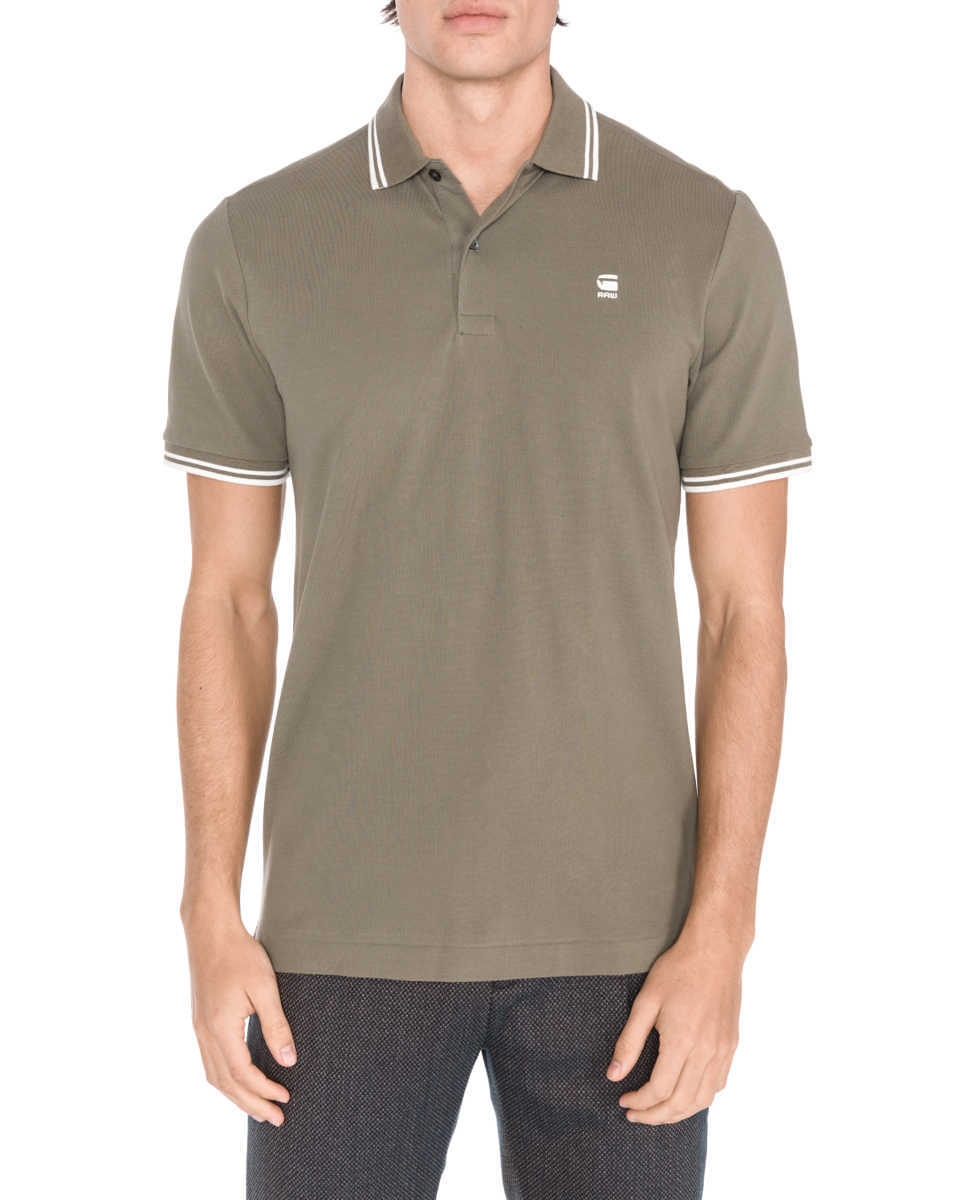 G-Star RAW Dunda Polo Shirt Green GOOFASH 309243