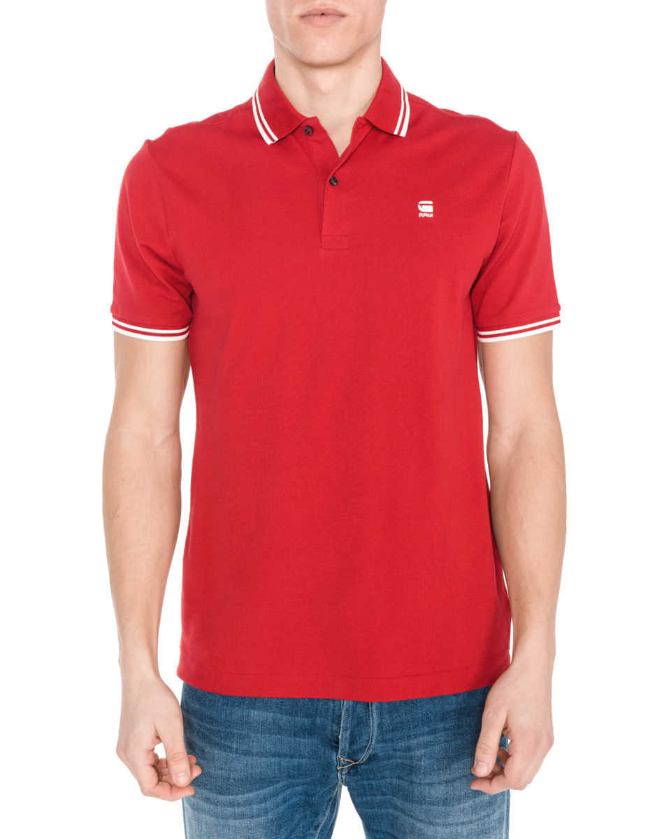 G-Star RAW Dunda Polo Shirt Red GOOFASH 309248