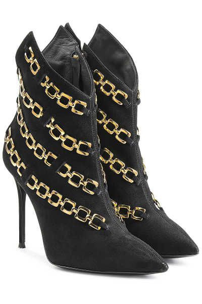 Giuseppe Zanotti Chain Embellished Suede Ankle Boots GOOFASH 257277