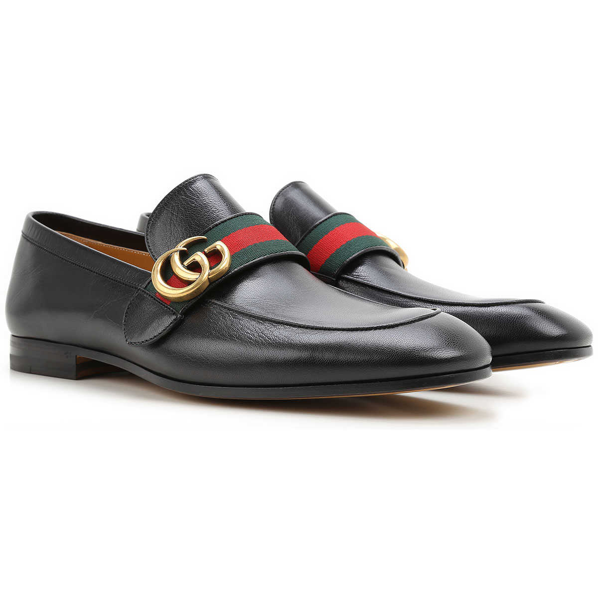 Gucci Loafers for Men, Black, Leather