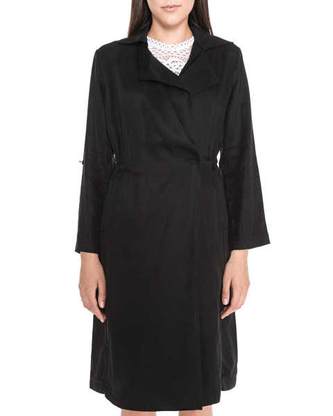 Guess Alessia Trench coat Black GOOFASH 308275