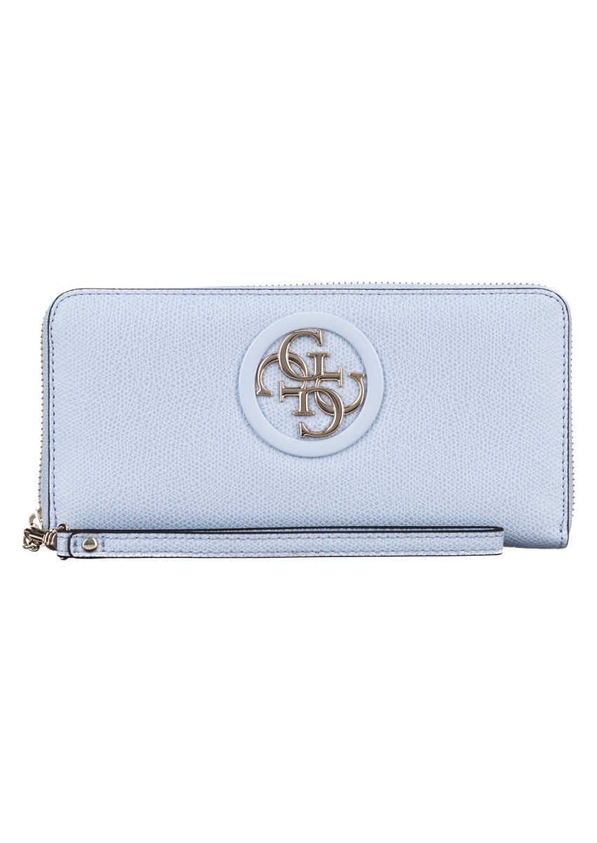Guess Open Road Large Wallet Blue GOOFASH 308052