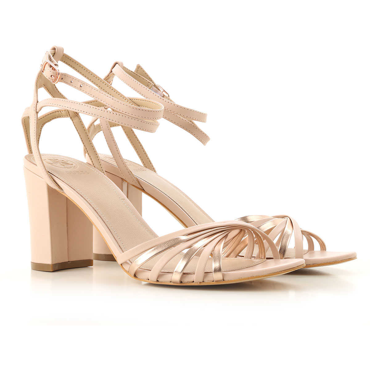 Guess Sandals for Women, blush, Leather