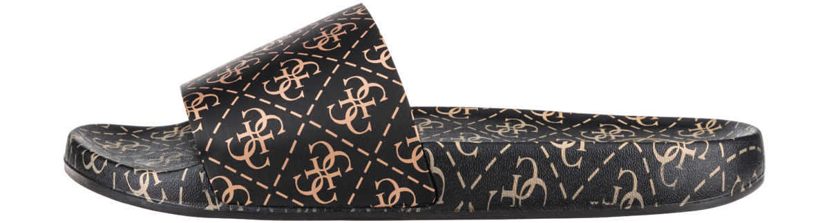 Guess Slippers Black GOOFASH 307658