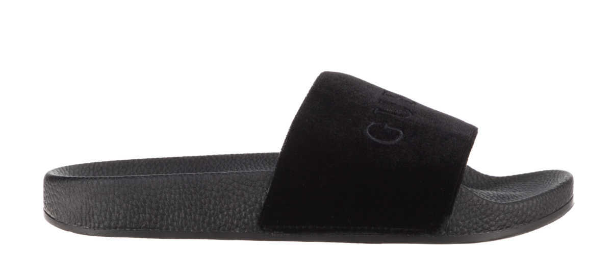 Guess Slippers Black GOOFASH 315952