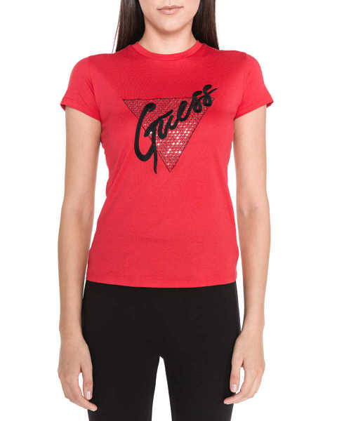 Guess T-shirt Red GOOFASH 308155