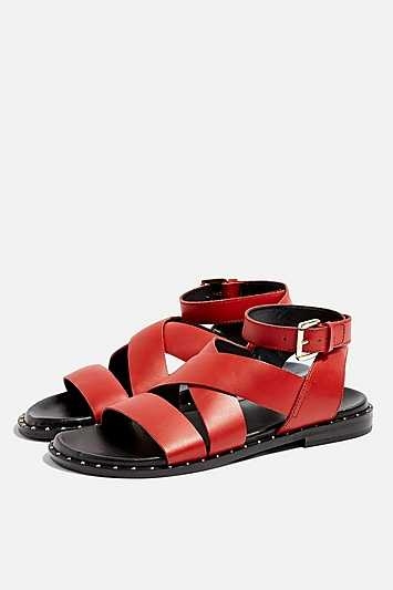 Hampton Sandals - Red - Topshop - GOOFASH - 602019001315224