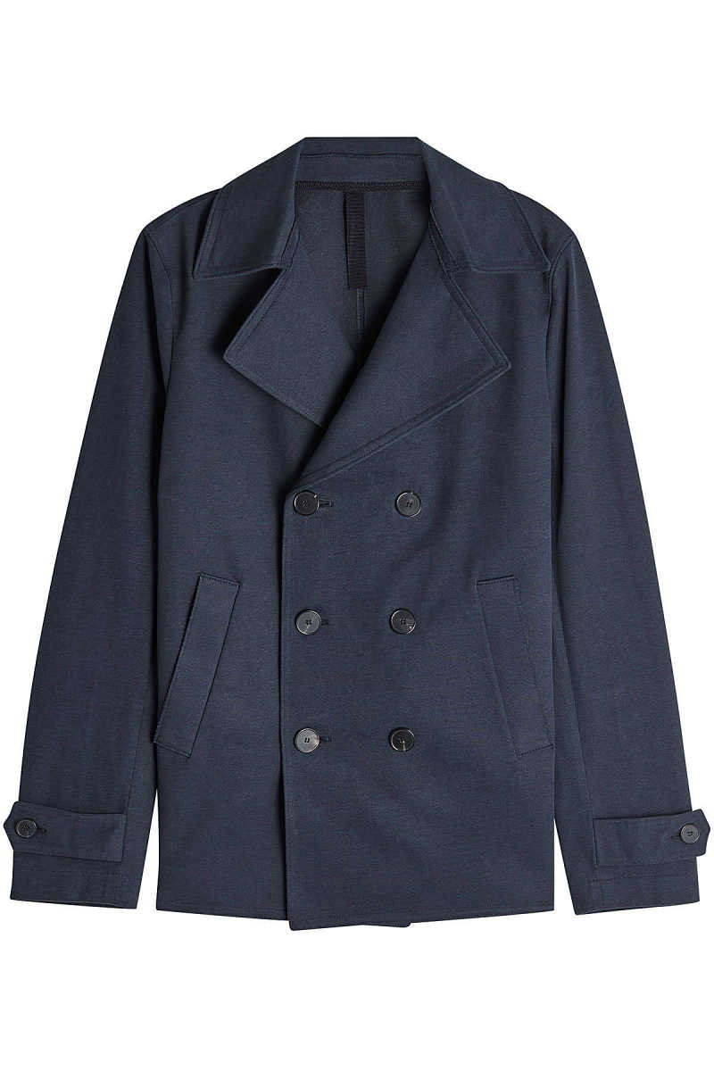 Harris Wharf London Cotton Pea Coat GOOFASH 286876