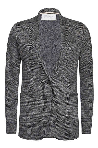 Harris Wharf London Houndstooth Blazer with Virgin Wool and Cotton GOOFASH 288936