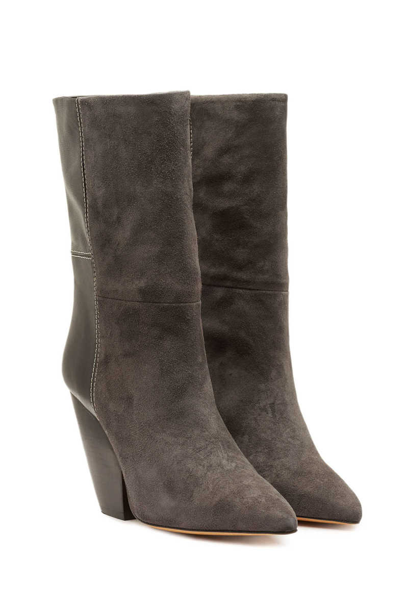 Iro Pari Suede Ankle Boots with Leather GOOFASH 297383