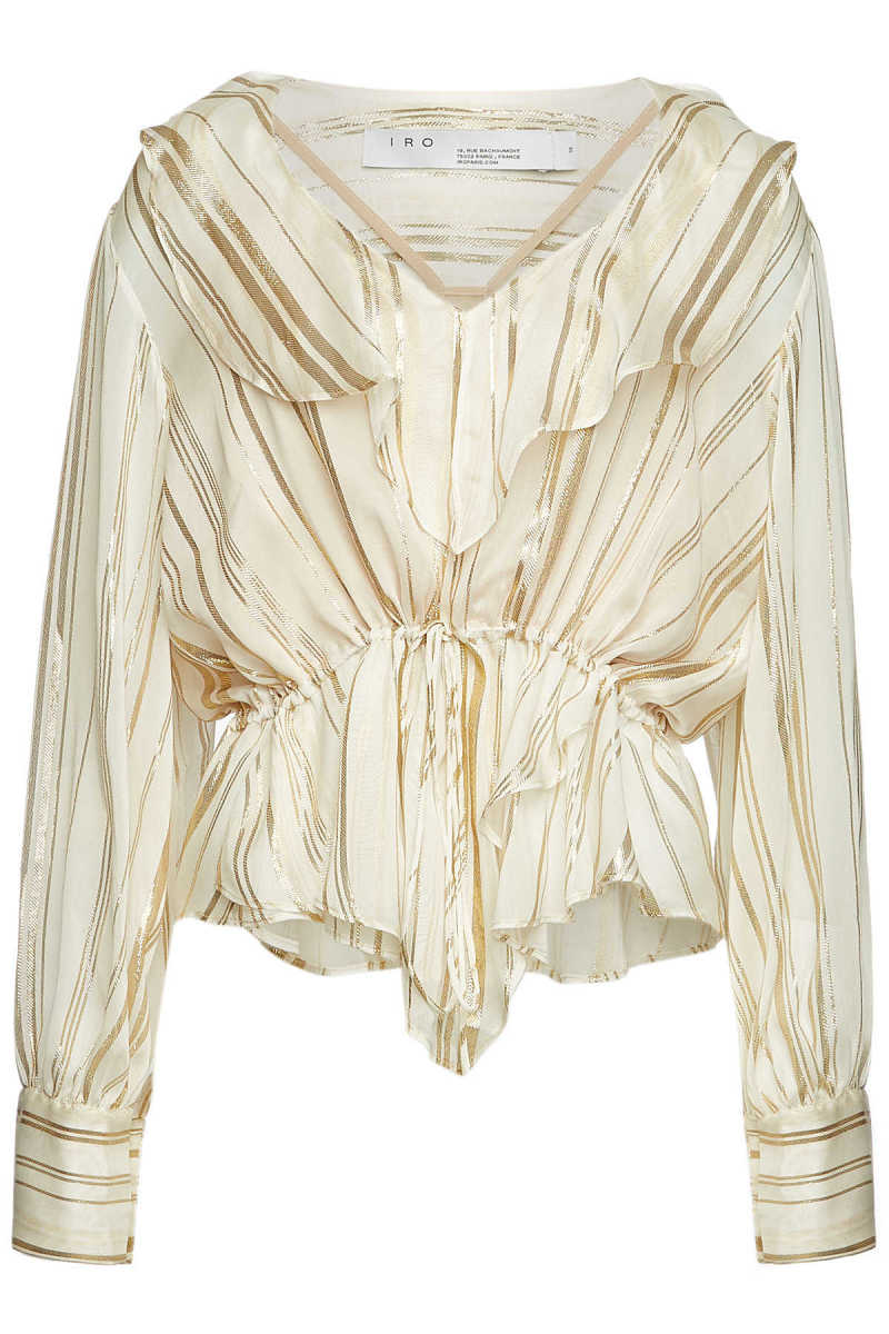 Iro Treasure Silk Blouse with Metallic Thread GOOFASH 297359