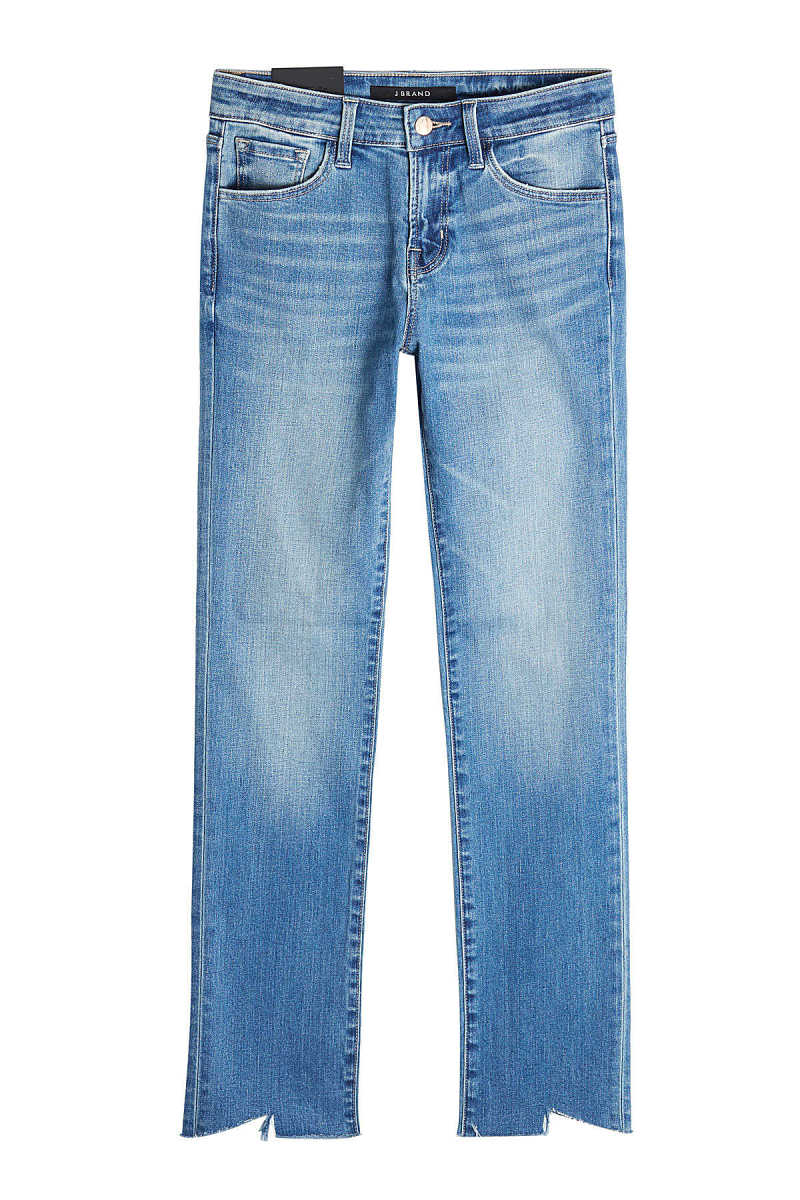 J Brand Jeans with Distressed Ankles GOOFASH 265658