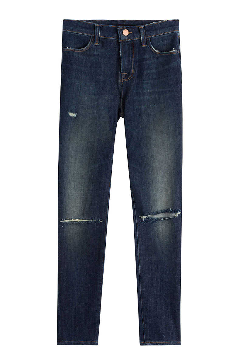 J Brand Skinny Jeans with Distressed Detail GOOFASH 249231