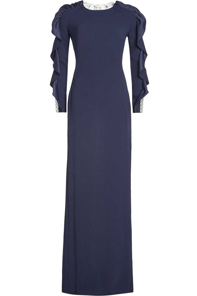 Jenny Packham Crepe Gown with Lace Back GOOFASH 260501