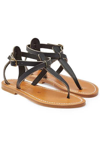 K.Jacques Leather Buffon Sandals GOOFASH 299193