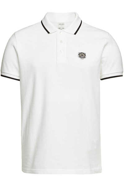 Kenzo Cotton Polo Shirt with Contrast Trim GOOFASH 298664