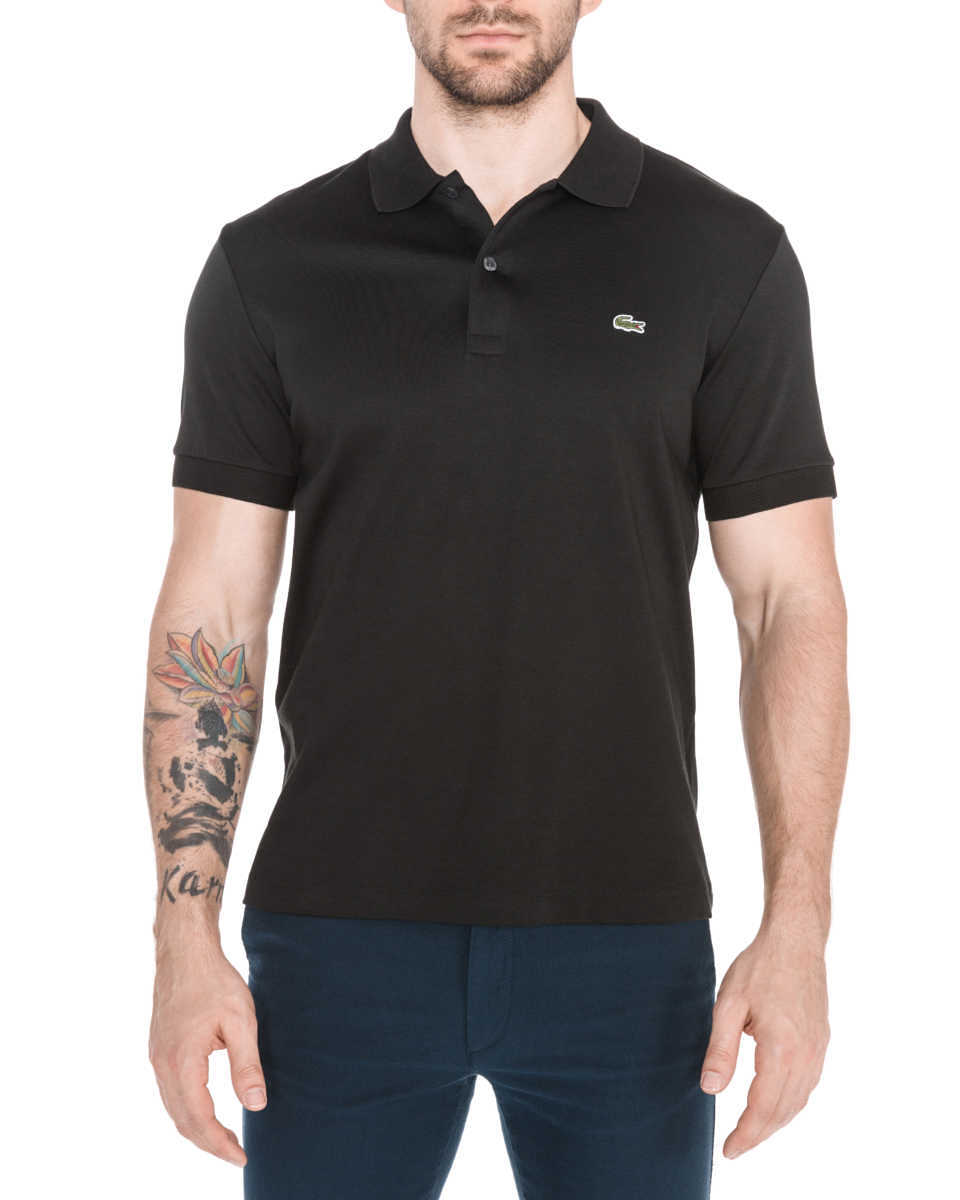 Lacoste Polo Shirt Black GOOFASH 310511