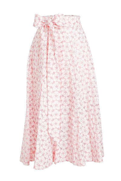 Lisa Marie Fernandez Cotton Skirt with Eyelet Cut-Out Detail GOOFASH 285572