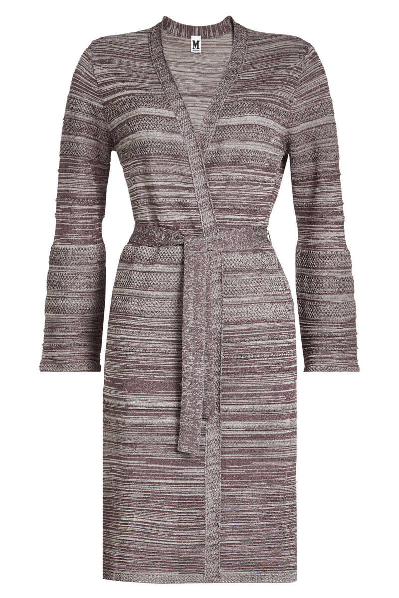 M Missoni Belted Cardigan with Cotton GOOFASH 272991