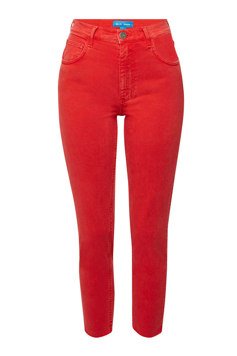 M.i.h Jeans Mimi Cropped Distressed Skinny Jeans GOOFASH 290704
