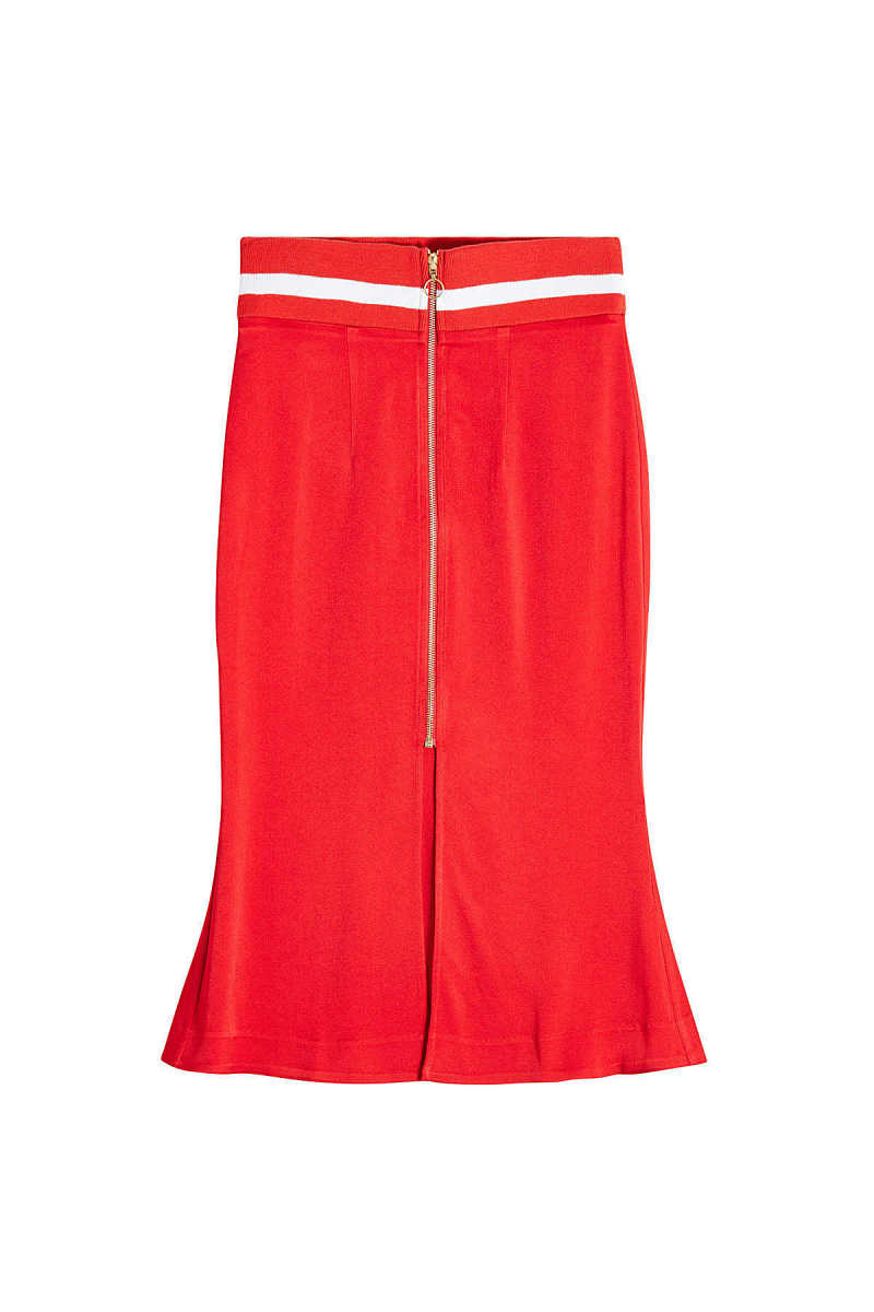 Maggie Marilyn Crepe Skirt with Fluted Hem GOOFASH 275024