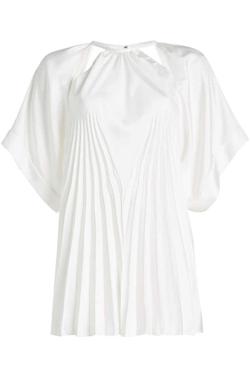 Maison Margiela Pleated Blouse with Cut-Out Detail GOOFASH 286252