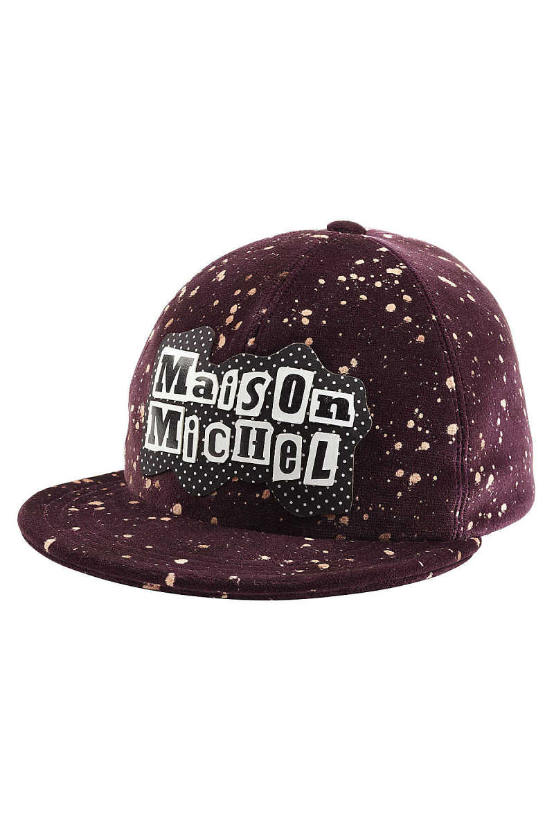 Maison Michel Printed Cotton Baseball Cap GOOFASH 258808