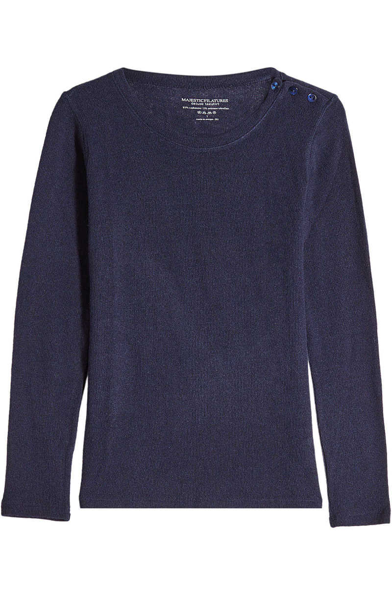 Majestic Cashmere Pullover with Wool GOOFASH 271815