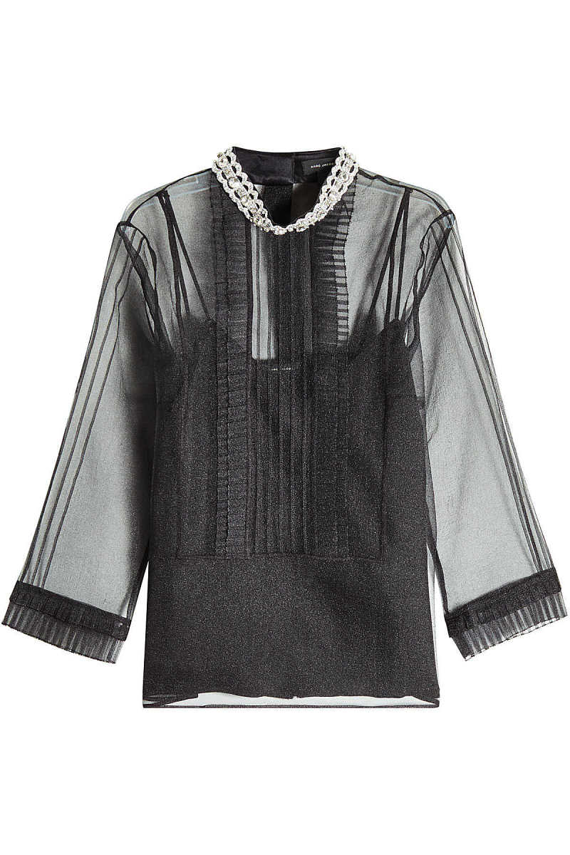 Marc Jacobs Pintuck Embellished Blouse GOOFASH 280803