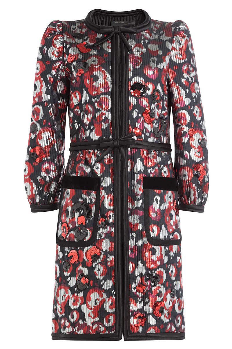 Marc Jacobs Printed Coat with Sequins GOOFASH 249575