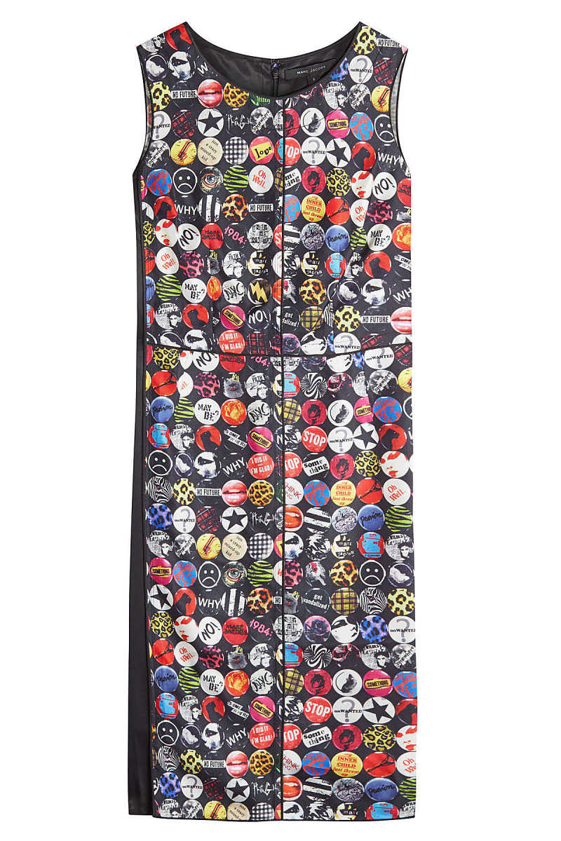Marc Jacobs Printed Shift Dress with Silk GOOFASH 290407