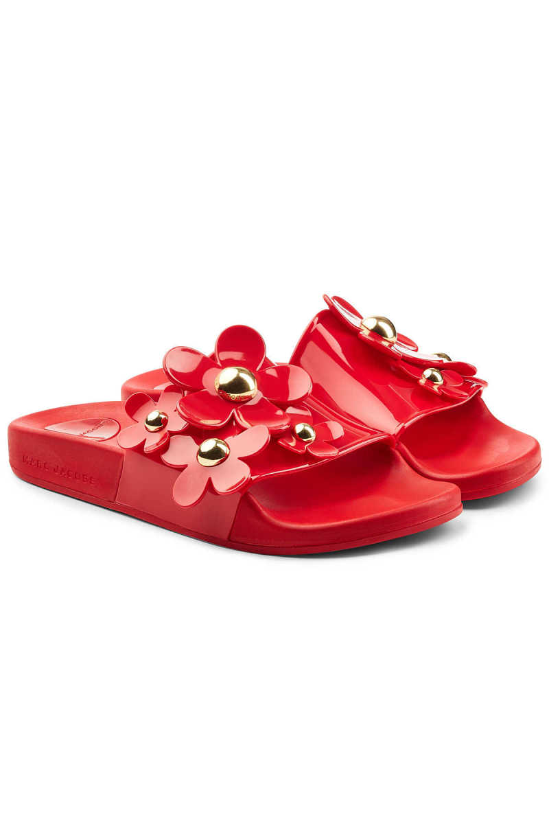Marc Jacobs Rubber Slides with Flowers GOOFASH 290475