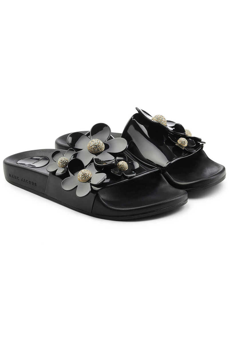 Marc Jacobs Rubber Slides with Flowers GOOFASH 290476