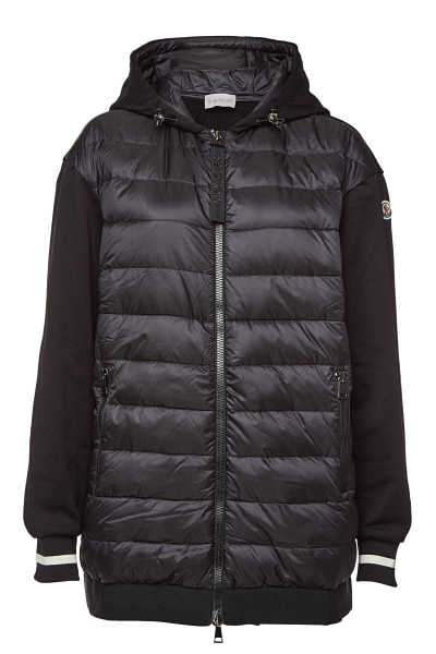 Moncler Cardigan with Cotton and Down Filling GOOFASH 292128