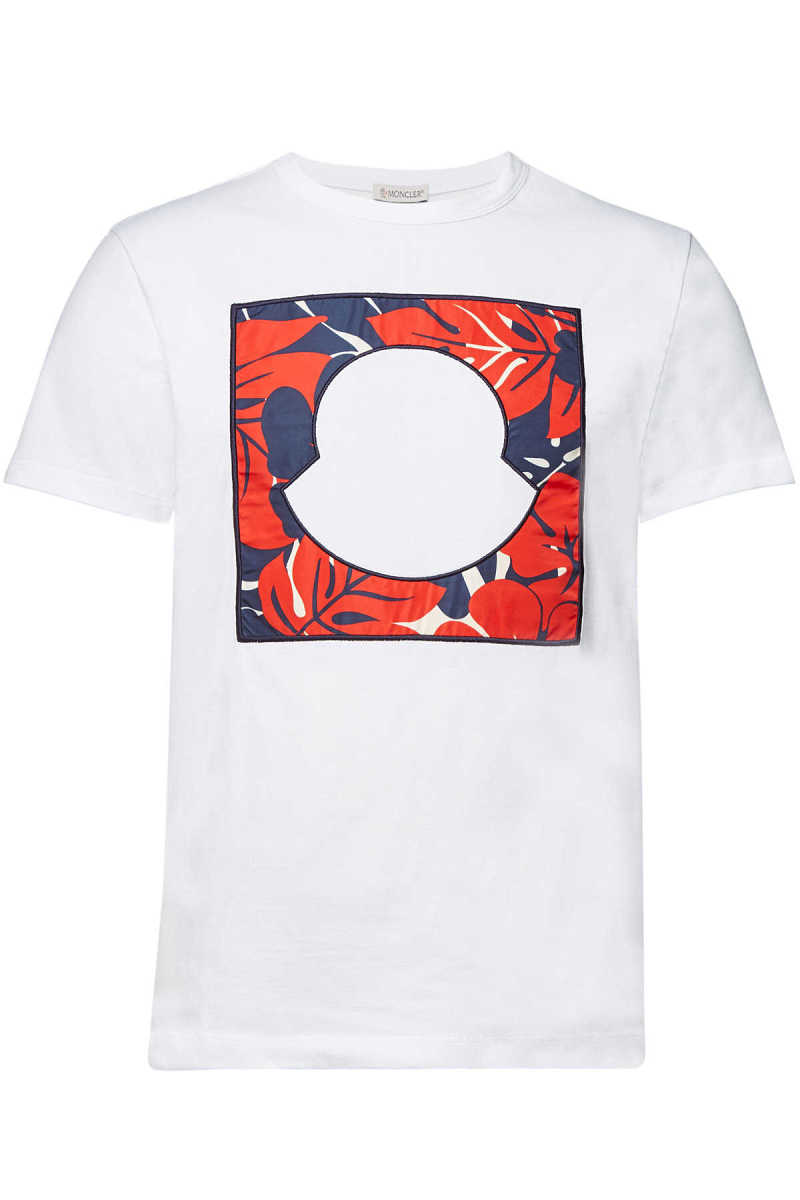Moncler Embroidered Cotton T-Shirt GOOFASH 299237