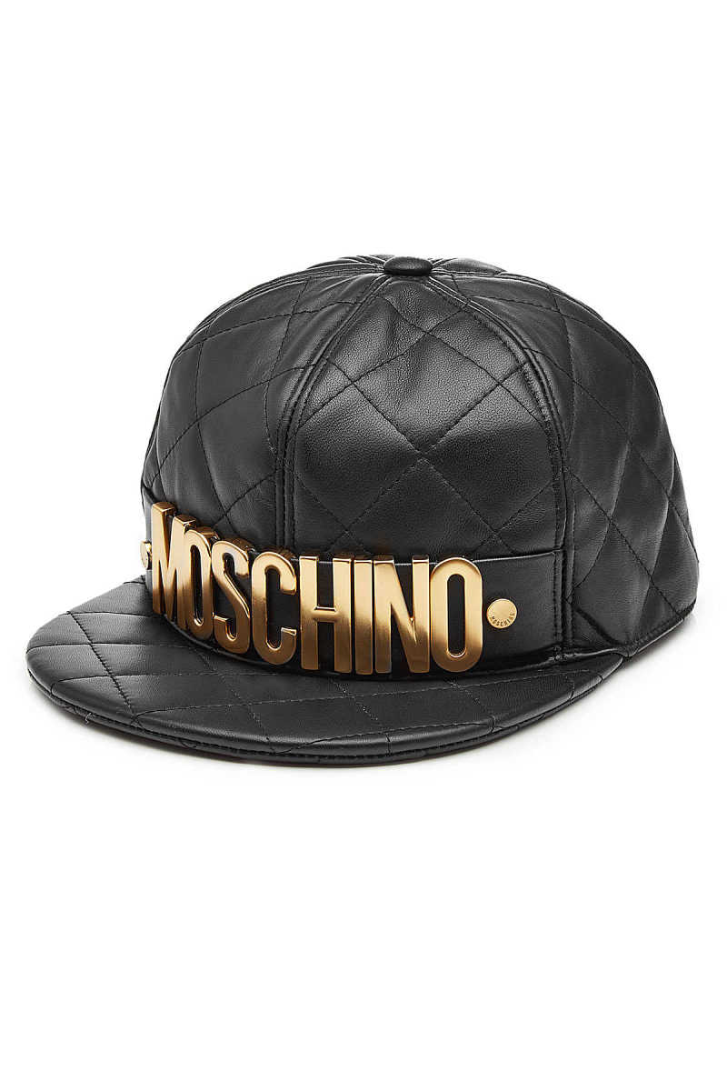 Moschino Quilted Leather Baseball Cap GOOFASH 274590