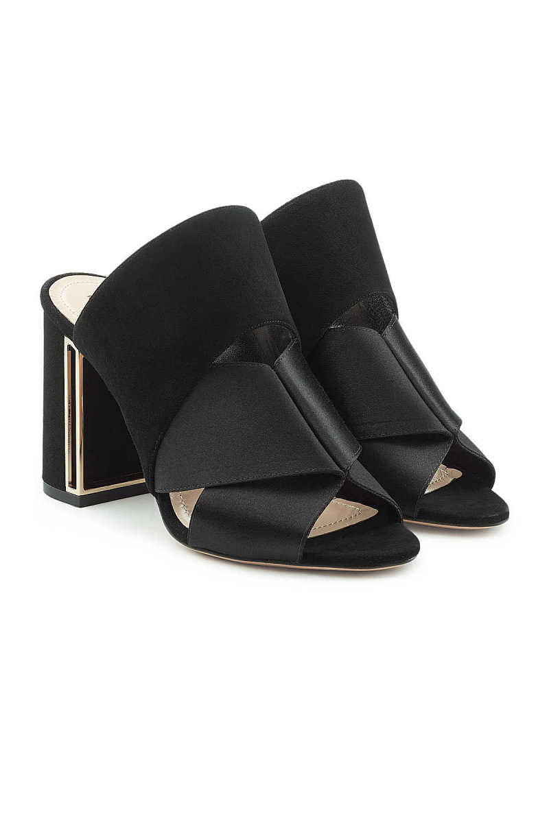Nicholas Kirkwood Nini Mules in Satin and Suede GOOFASH 283288