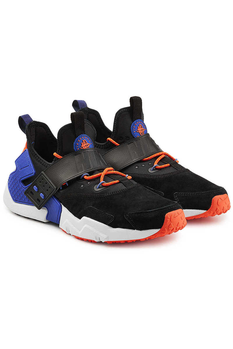 Nike Air Huarache Run Sneakers with Leather and Suede GOOFASH 285796