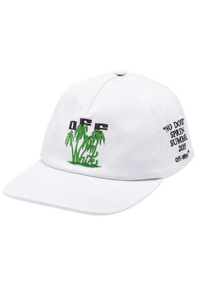 Off-White Island Embroidered Cotton Baseball Cap GOOFASH 298956